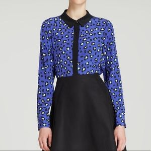 kate spade Tops - Kate Spade New York Cyber cheetah silk blouse top